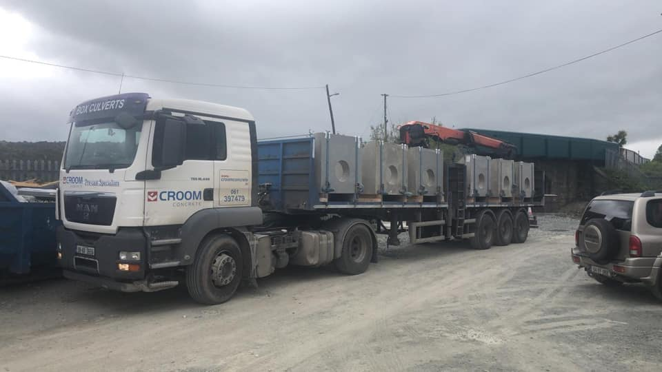 Small pipe headwalls delivered to Iarnród Éireann Irish Rail in Wicklow