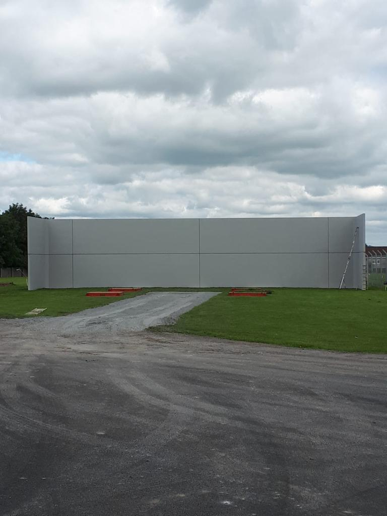 22m Croom Concrete Precast Hurling Wall Installed For Claughann Gaa In Limerick City