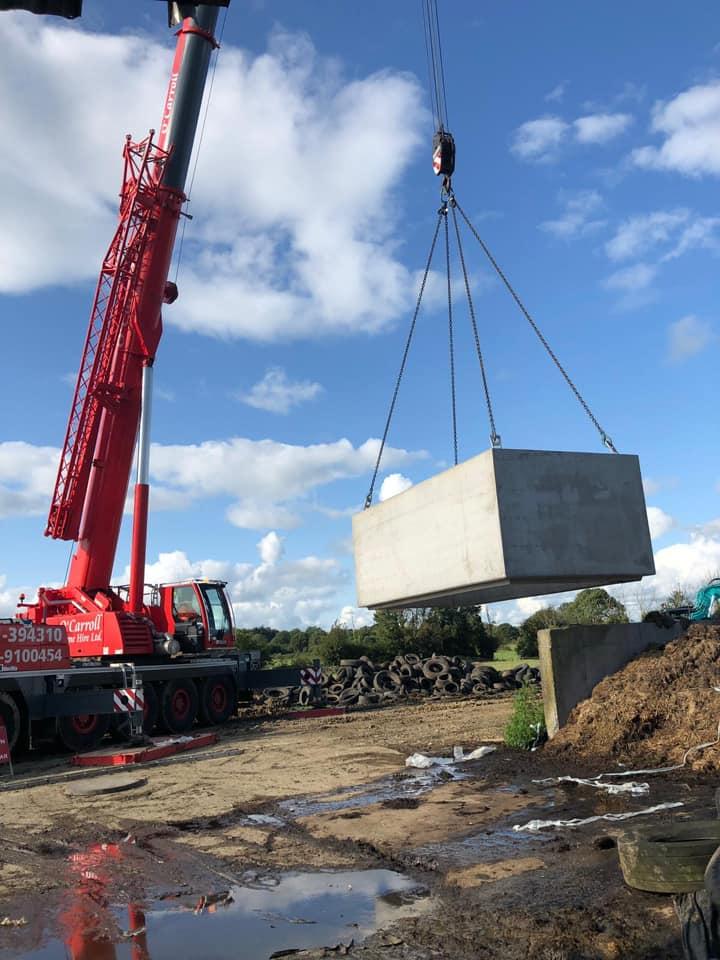 10,000 gallon Precast Effluent Tank Installed in Mallow