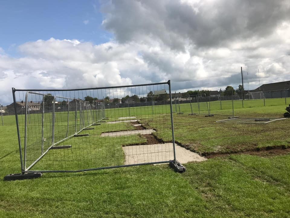 New Precast Hurling Wall for Claughann GAA